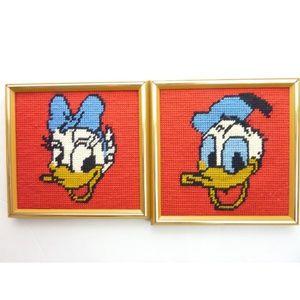 Vintage Daisy Duck & Donald Duck Portraits